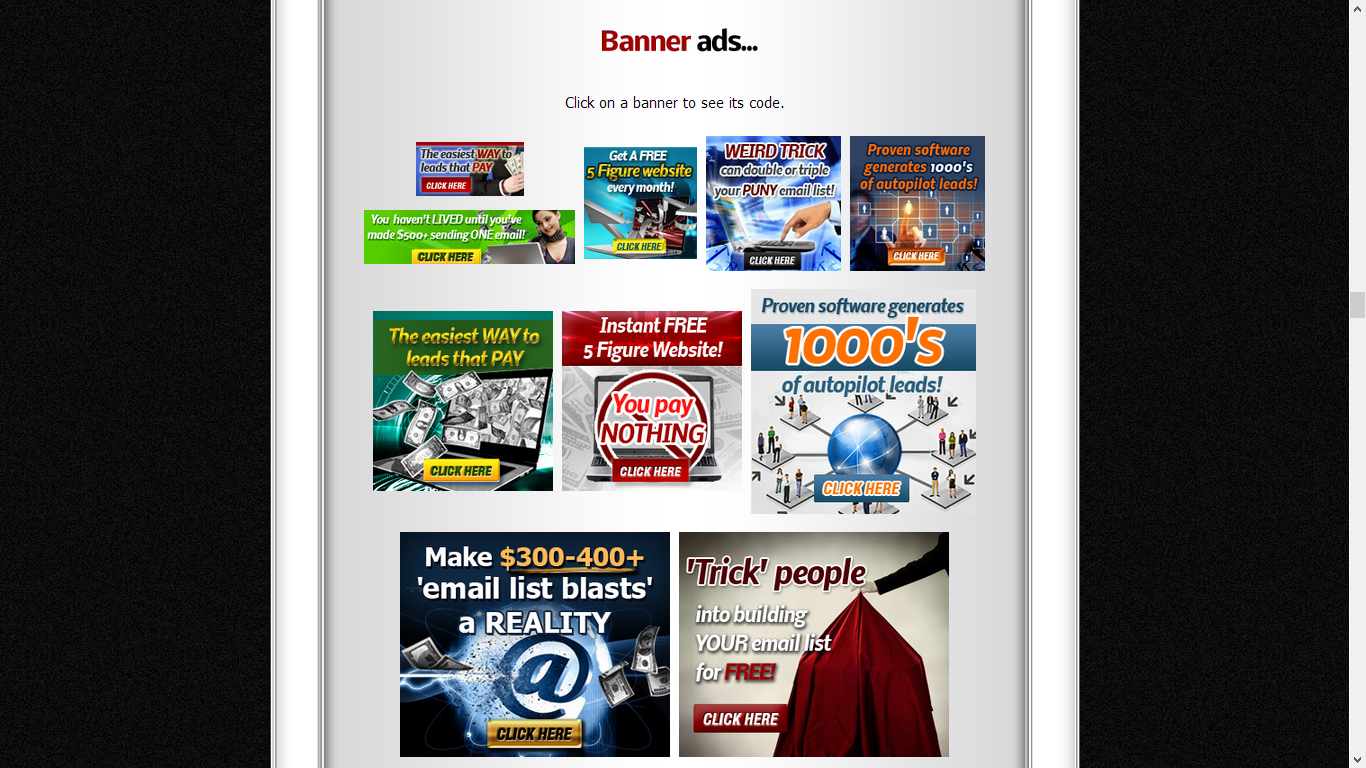 Affiliate Banner Ads