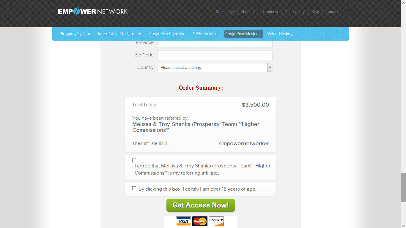 $3,500 Empower Network Product