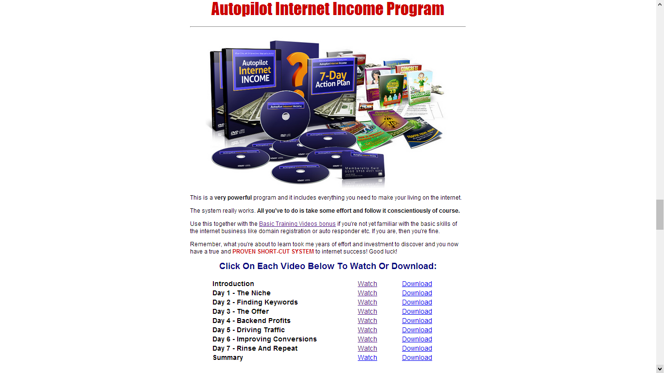 Autopilot Internet Income Training Videos