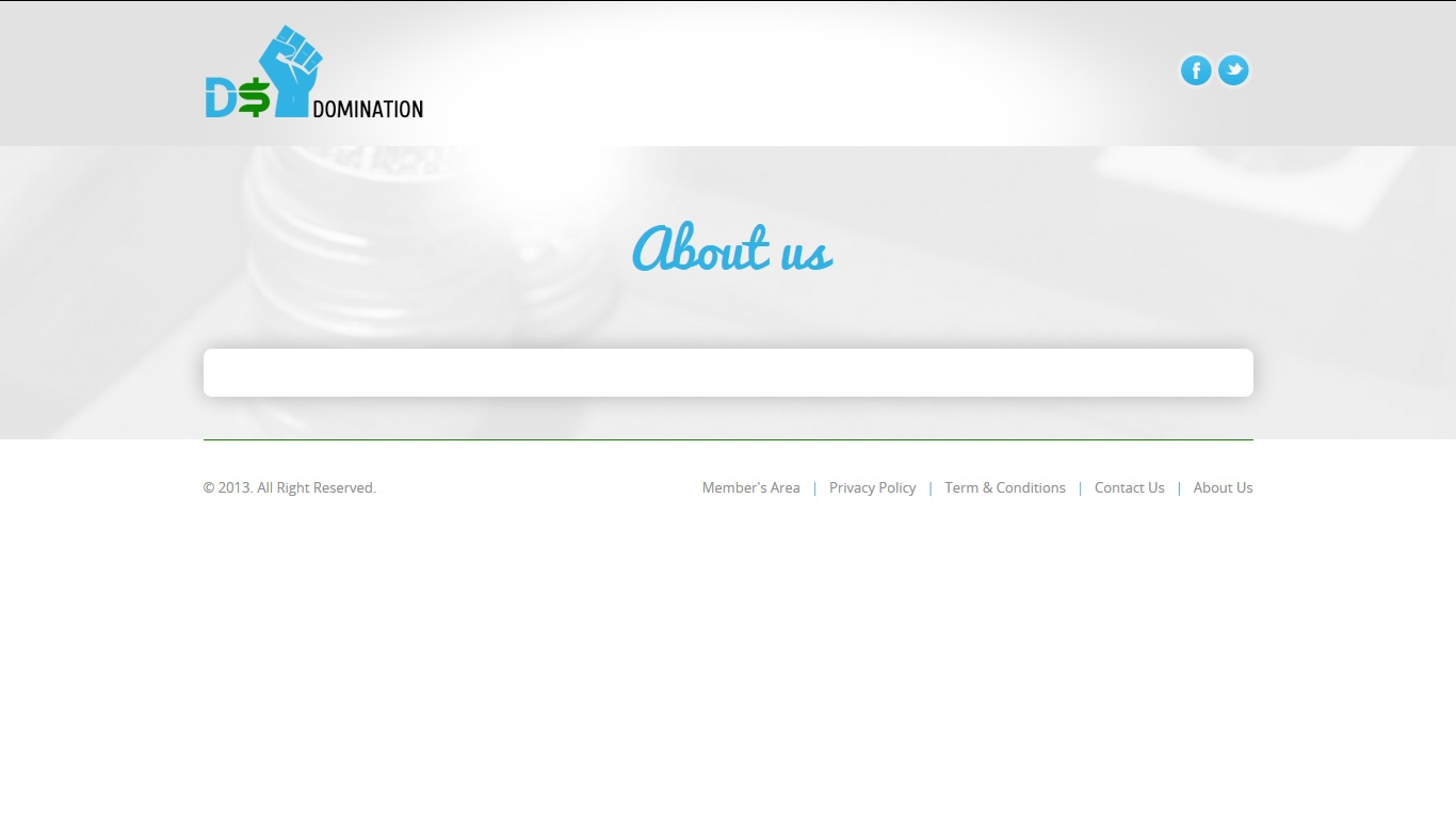 Empty About Us Page