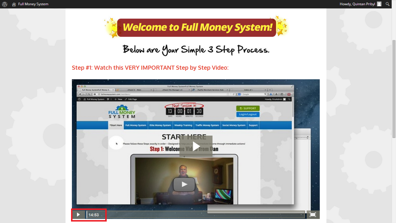 Full Money System Training