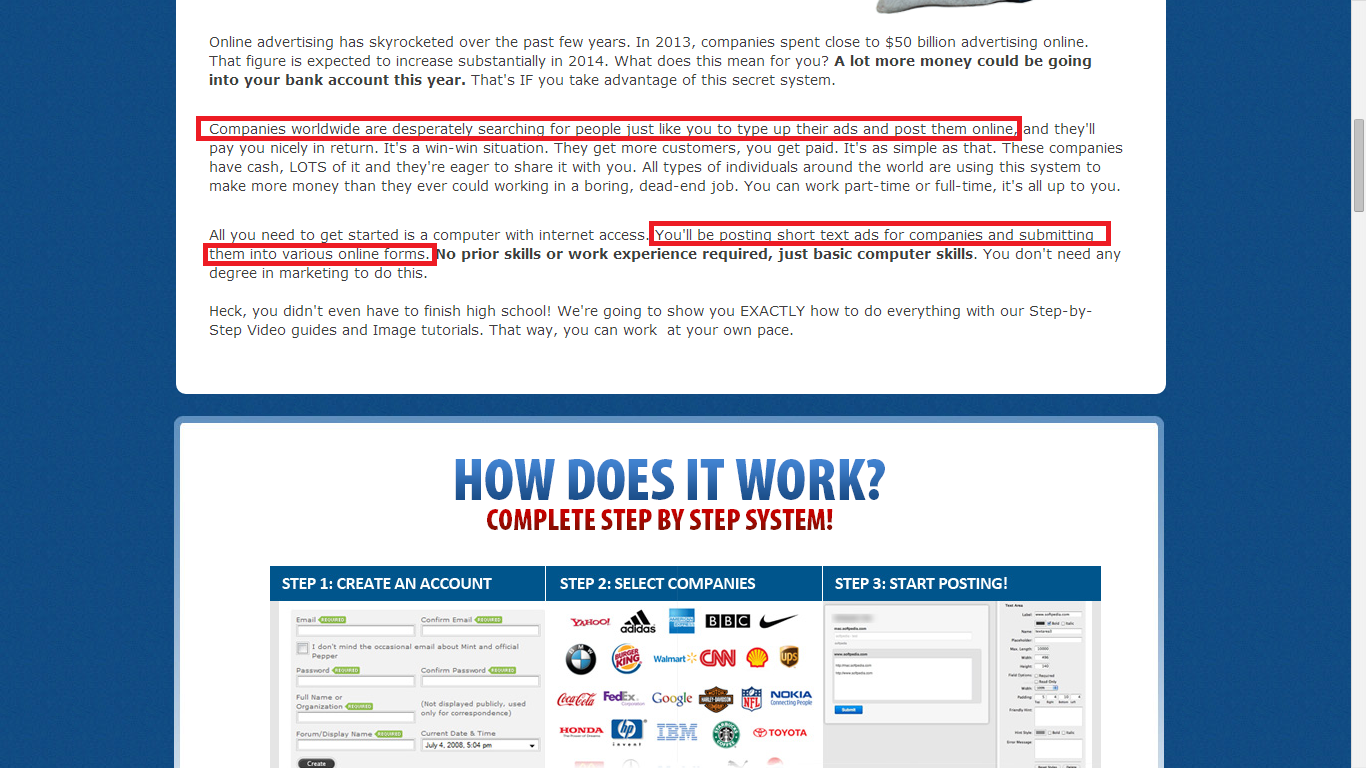 Legit Online Jobs Sales Page