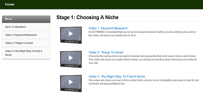 stage 1: choosing a niche