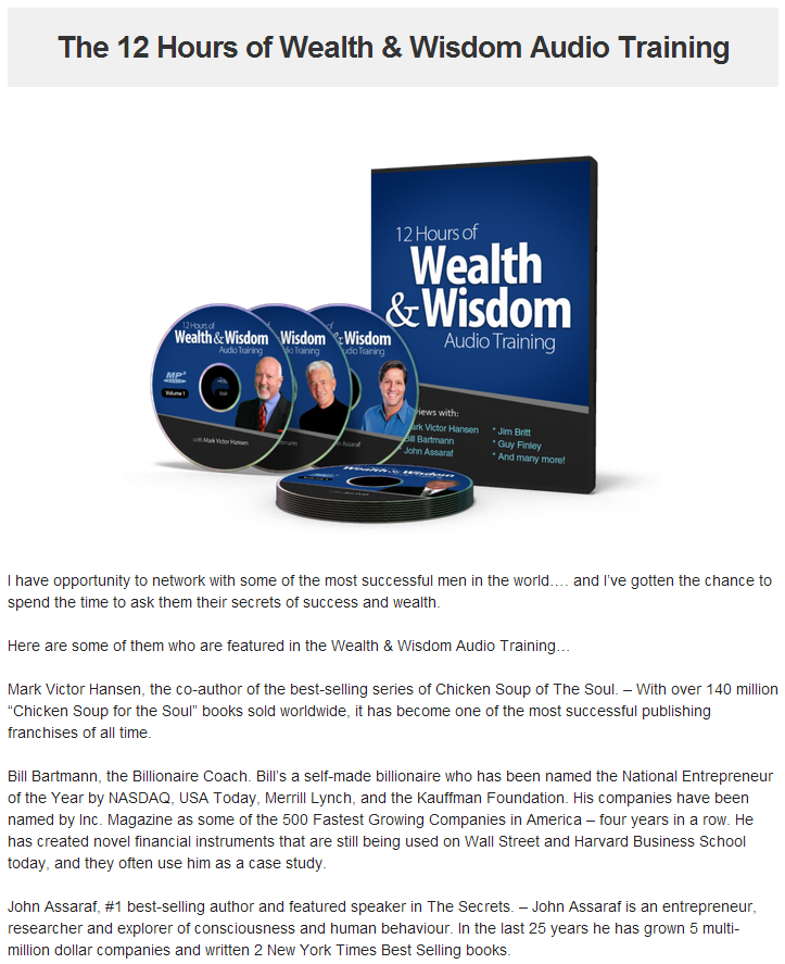 12 hours of wealth and wisdom
